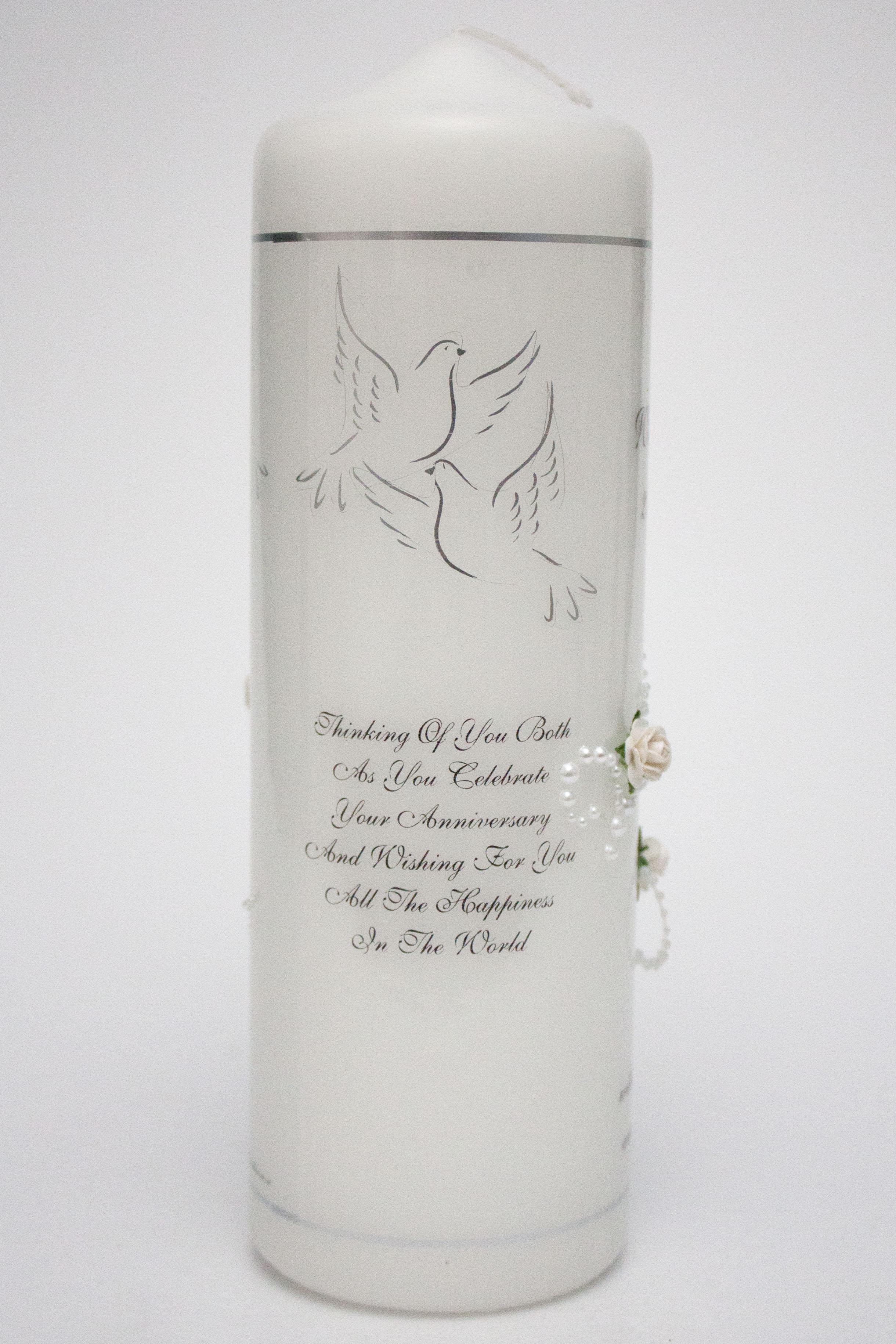 25th Wedding Anniversary Pearl Swirl Amp Flowers